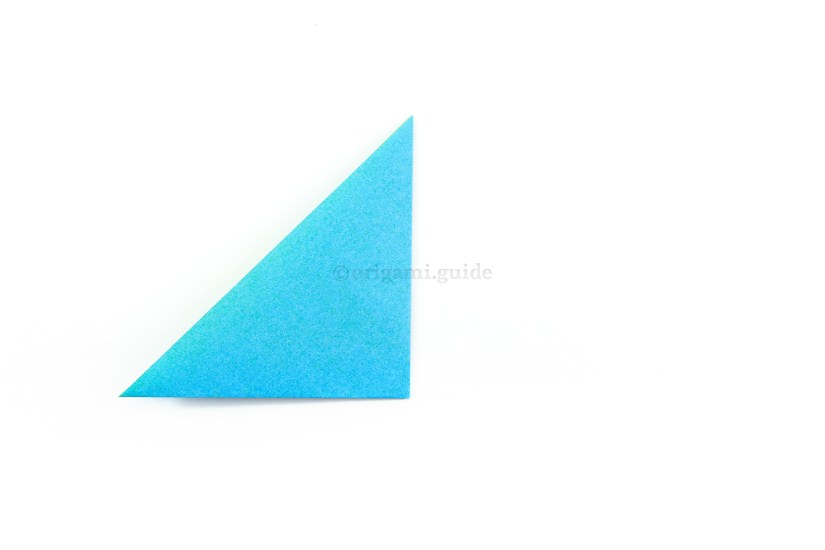 4. Fold the right point over to the left point.