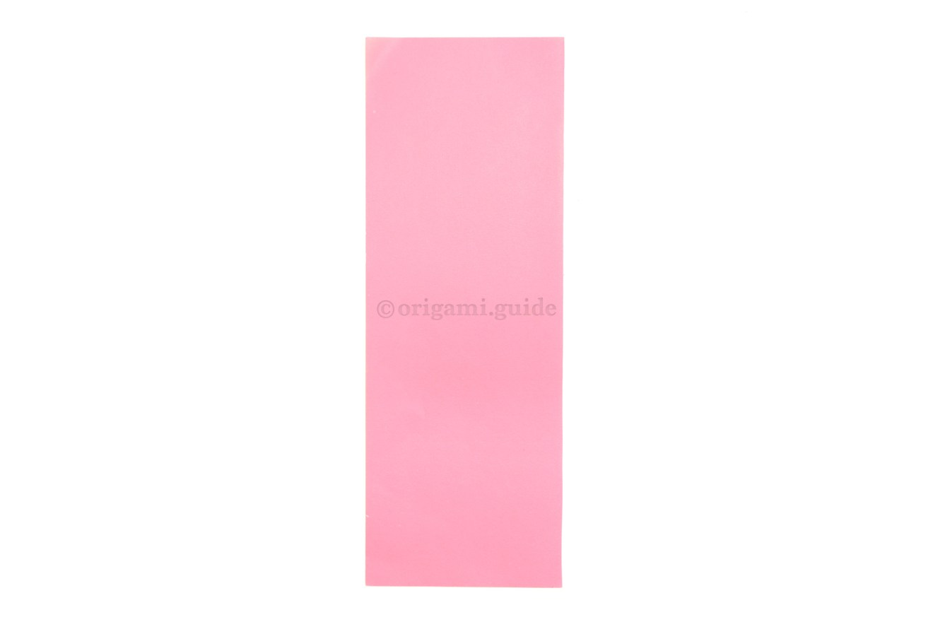 This is the front of our origami paper, our origami heart bookmark will end up this color.