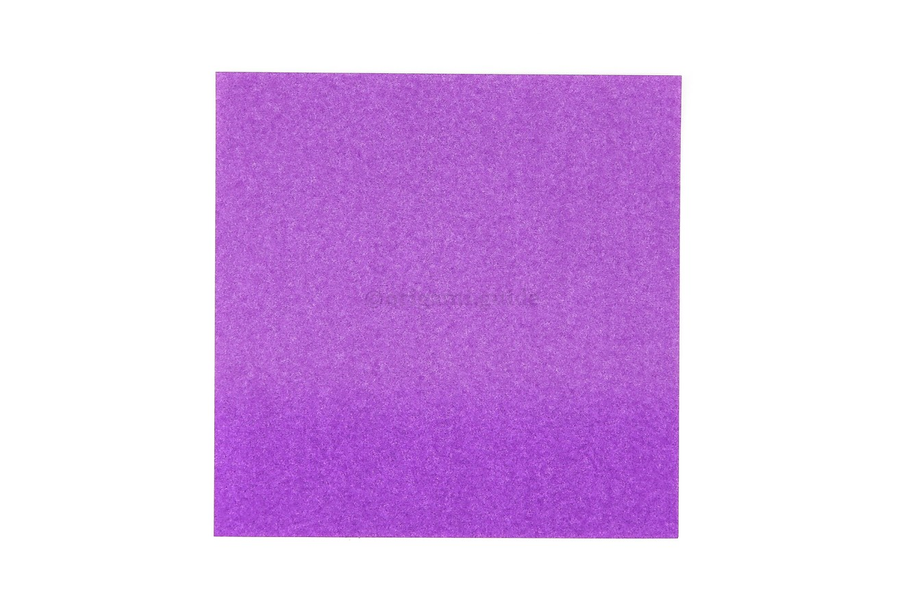 This is the front of our origami paper, the origami butterfly will end up being this color.