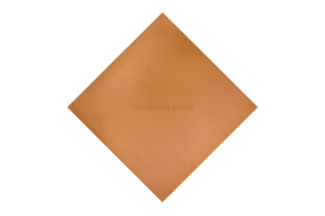 This is the front of our origami paper, the origami mouse will be mostly this colour.