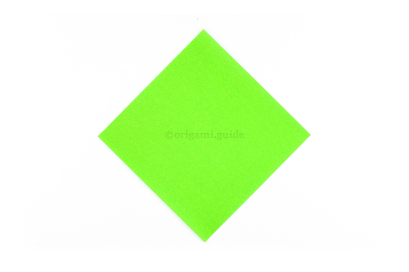 This is the back of origami paper, this color won't be seen, start this side up.