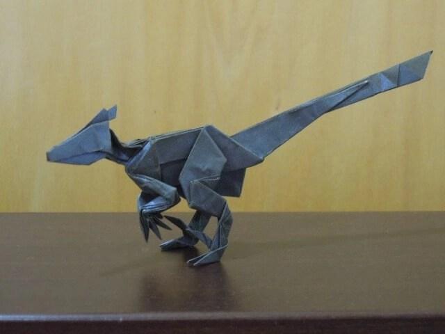 How To Make A Origami Velociraptor