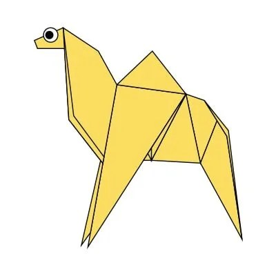 3d origami diagram animals trailer wiring for 2001 chevy silverado free instructions diagrams learn how to make camel