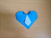 折り紙のハートネクタイ 簡単な折り方