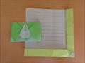 折り紙のうさぎの封筒の簡単な折り方