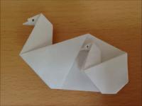 折り紙 白鳥の親子 簡単な折り方