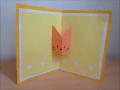 折り紙 猫の顔 誕生日ポップアップカード 簡単な作り方