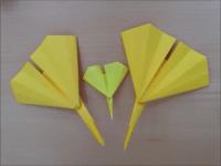 折り紙 イチョウの葉 簡単な折り方