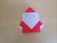 折り紙のサンタクロース2 簡単な折り方