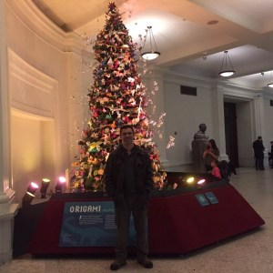 The 2015 OrigamiUSA Holiday Tree and Me