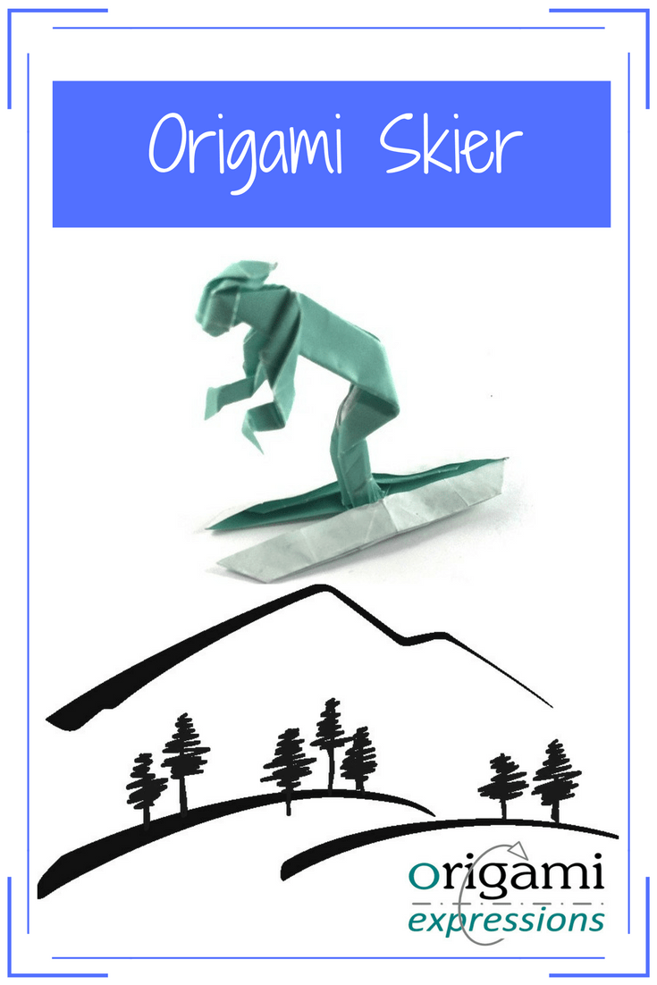 a little origami skier origami expressions