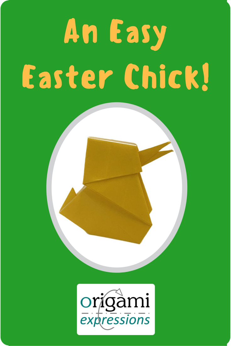 A page about Kuniko Kasahara's model origami Chick. Includes thoughts on folding, paper, and a link to a video tutorial.