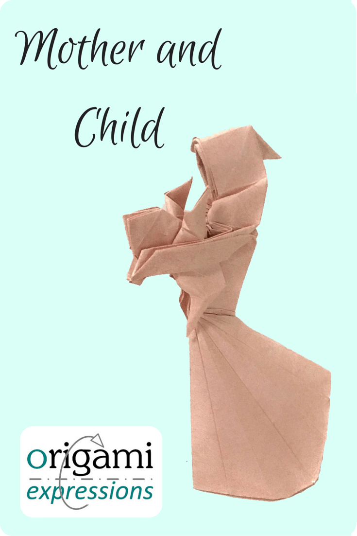 Page about Stephen Weiss's origami Mother and Child model. A model review, thoughts on folding, and where to get diagrams or video tutorial