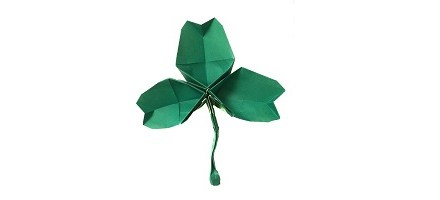 An Origami Shamrock: Happy St Patrick's Day!