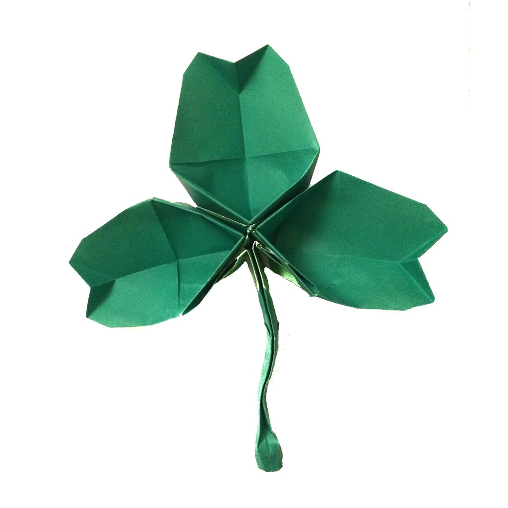 an origami shamrock happy st patricks day origami