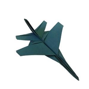 Origami F16, designed by Tadashi Morfi, folded by me