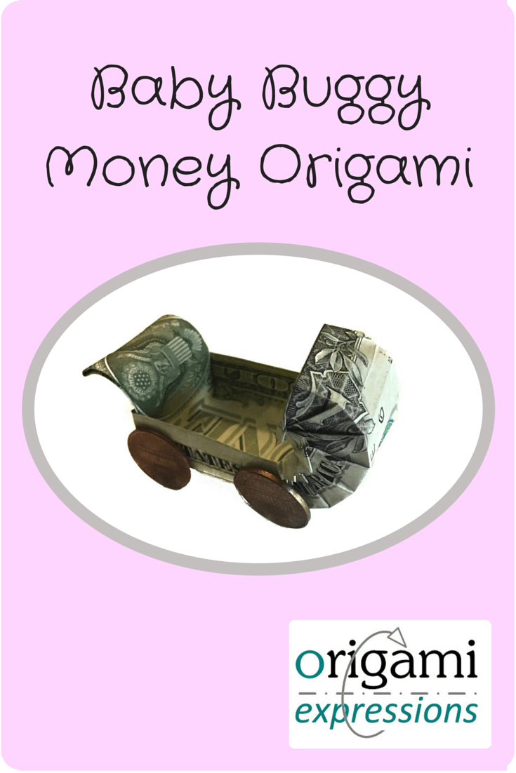 A review of Dominik Meissner's Baby Buggy model, folded from a One Dollar Bill. What money is like to fold, and where to find the video instructions so you can make it too.