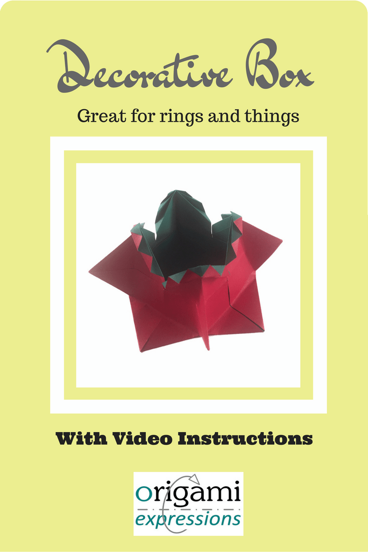 A review of the traditional origami Decorative Box. Includes video instructions showing how to fold this simple, but striking design