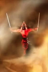 An Elite Ninja, one of the designs in Paul Hanson's book