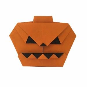 "Anita Barbour's Jack o' Lantern ""origamiexpressions.com"" Make a Jack o' Lantern without Making a Mess!"