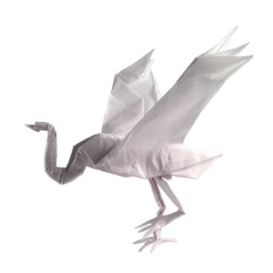 """Roman Diaz's Crane - origamiexpressions.com """"Taking the Origami Crane to Another Level"""""""