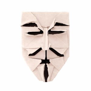 """Brian Chan's Guy Fawkes Mask """"Origami Guy Fawkes Mask"""" origamiexpressions.com"""