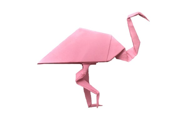 Pretty in pink – an Origami Flamingo!