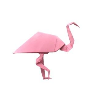 "Origami Flamingo ""Pretty in Pink - an origami flamingo"" origamiexpressions.com"