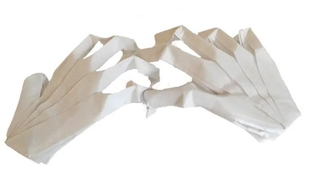 Spooky Origami Skeleton Hands