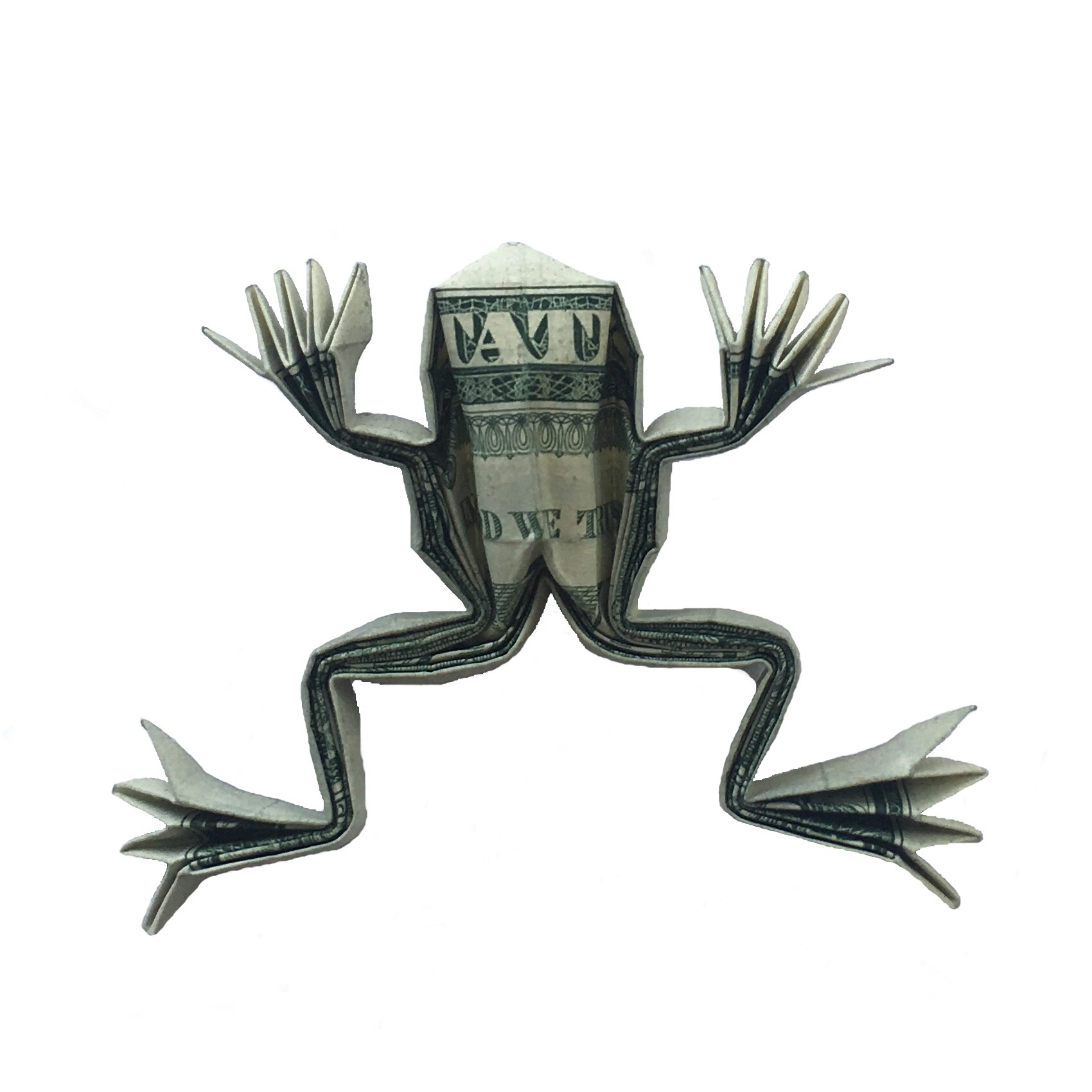 A money origami frog not bad for a dollar origami expressions rudolf deeg money origami frog origamiexpressions jeuxipadfo Image collections