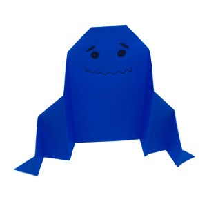 "Easy Origami Ghost by Stephane Gigandet ""Origami for Halloween"" origamiexpressions.com"