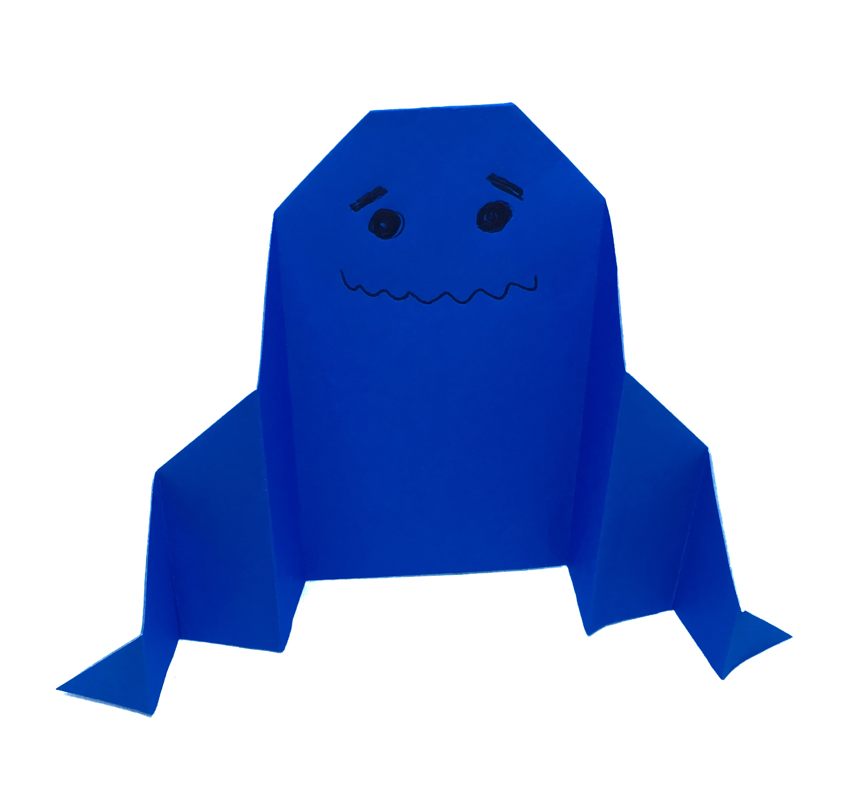 Easy Origami Ghost By Stephane Gigandet For Halloween Origamiexpressions
