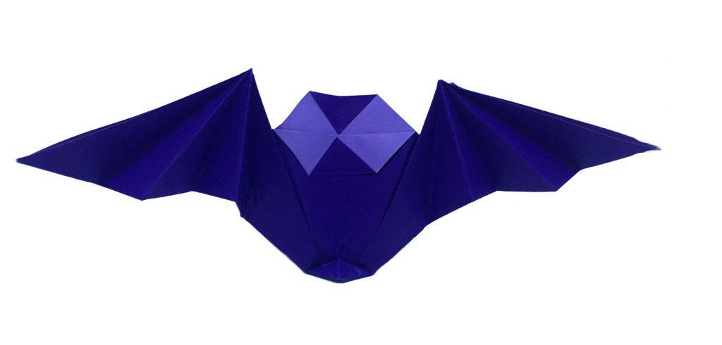 "Origami Bat by Stephane Gigandet ""Origami for Halloween"" origamiexpressions.com"