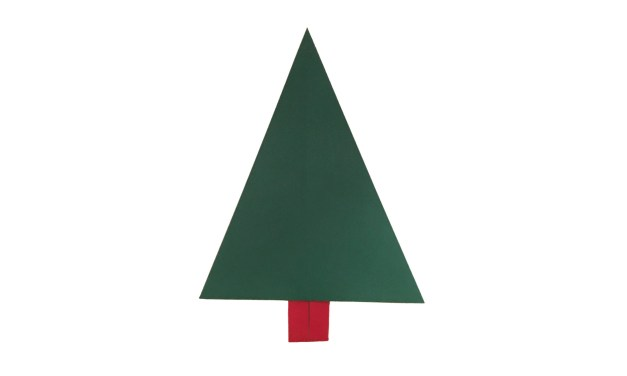 An Easy Traditional Origami Christmas Tree