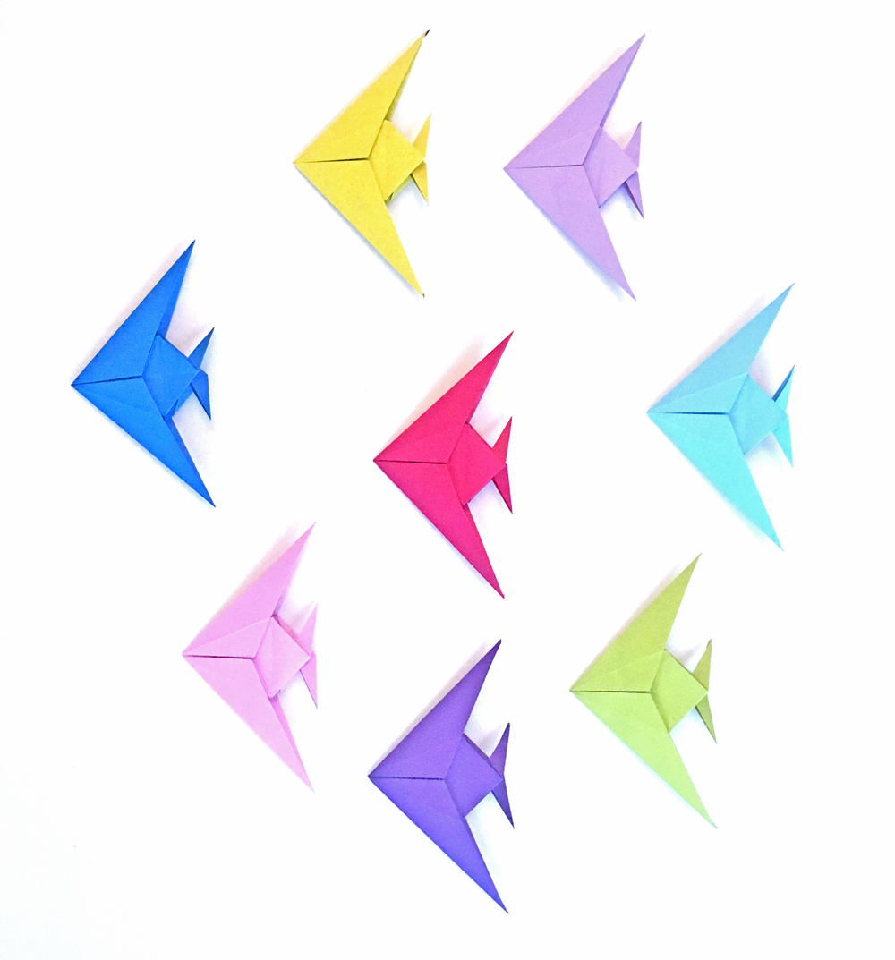 Christmas Origami.A Christmas Origami Angelfish Origami Expressions