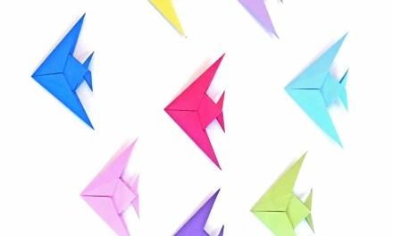 A Christmas Origami Angelfish