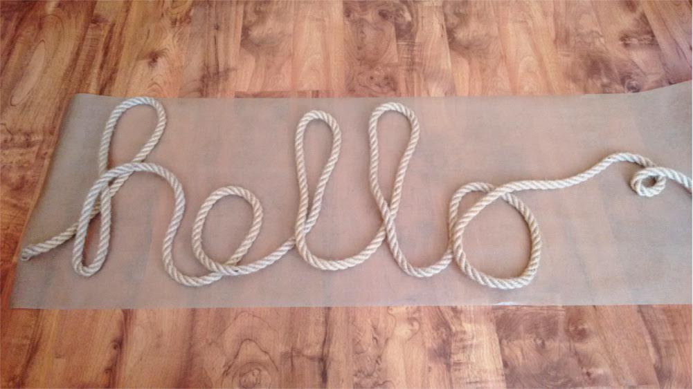 DIY Napis z liny, sznura