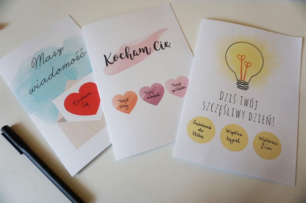 Diy Miłosne Kartki Zdrapki 3 Wzory Do Druku Origamifrogpl