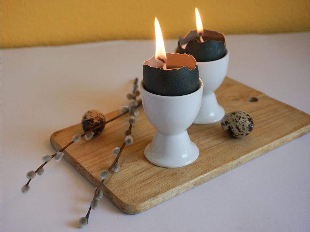 DIY Wielkanocne świeczki ze skorupek jaj