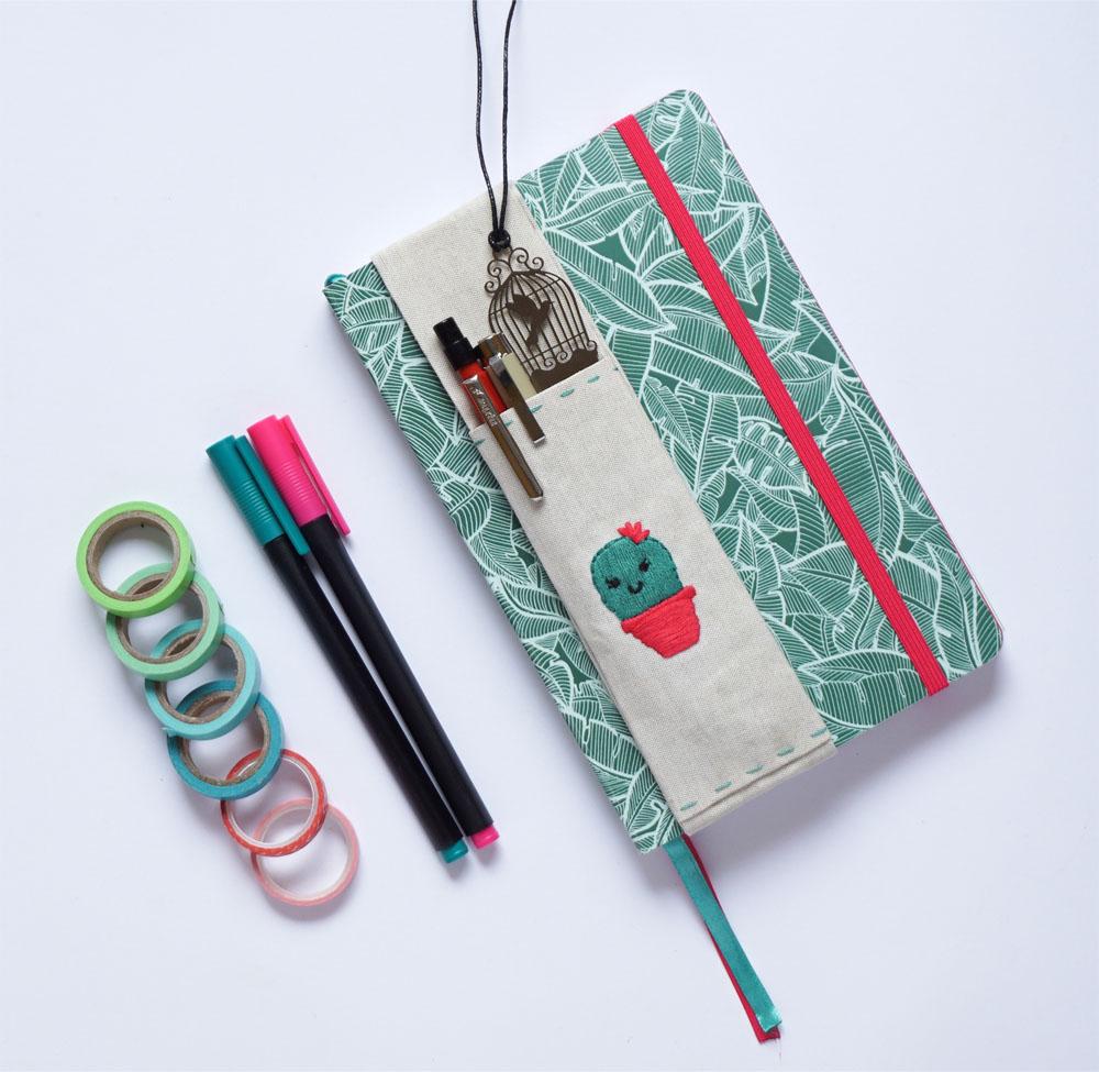 DIY Piórnik nakładany na notes, kalendarz, bullet journal