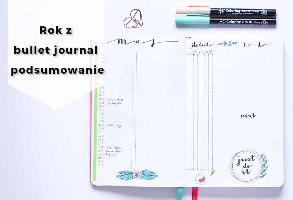 Rok z bullet journal - plusy, mity, notes