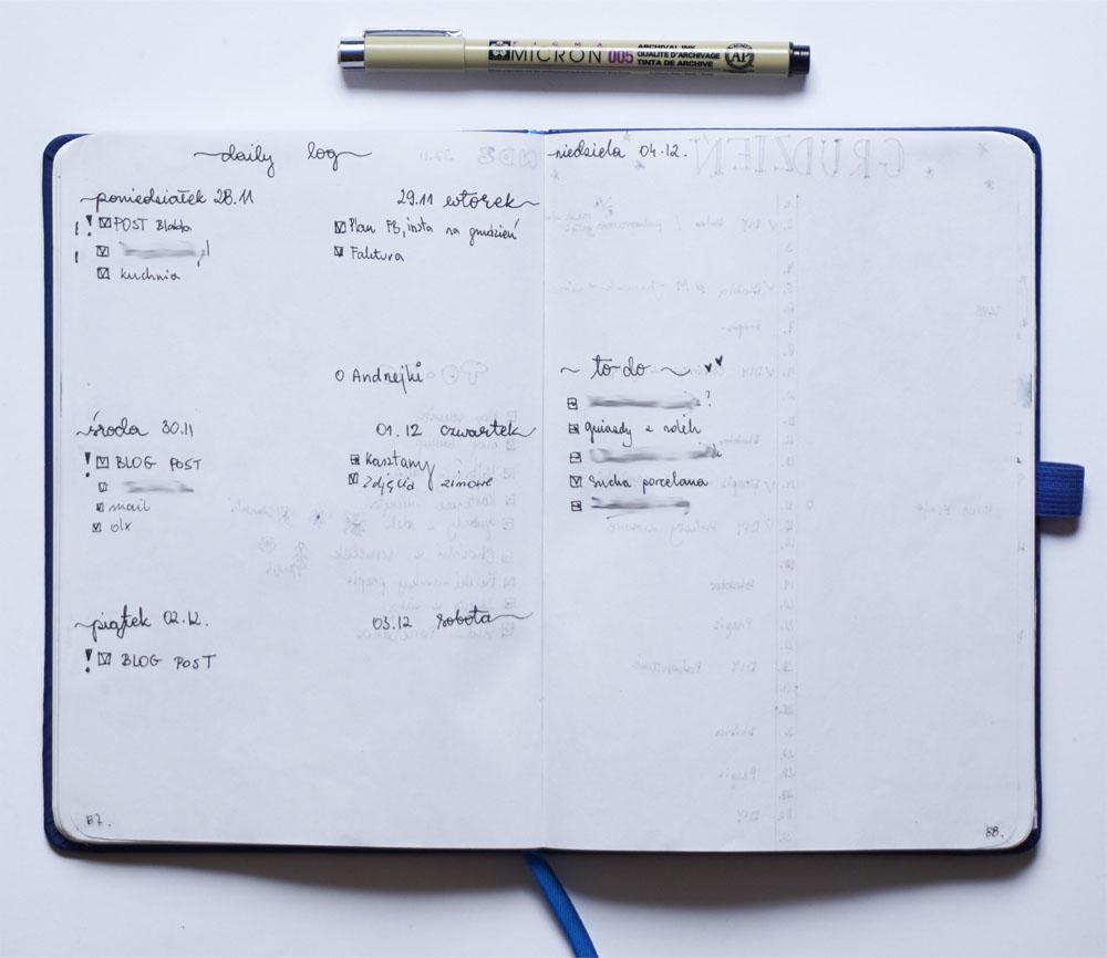 Rok z bullet journal - plusy, mity, notes