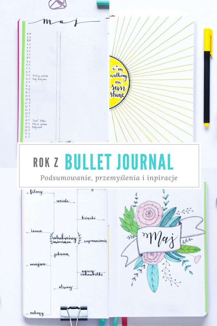 Rok z bullet journal - podsumowanie, plusy, mity, nowy notes, inpiracje