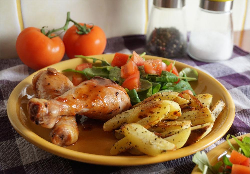 Przepis - kurczak po amerykańsku z frytkami