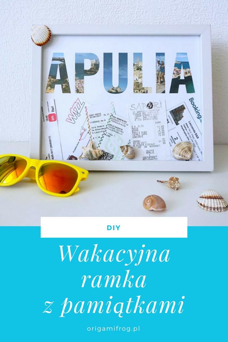 Zrób to sam Wakacyjna ramka z pamiątkami // DIY Vacation memories in a frame