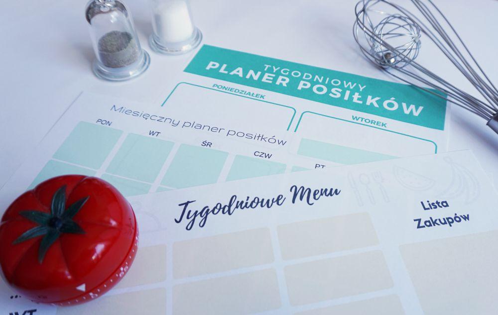 Jak planować posiłki - planer posiłków do druku