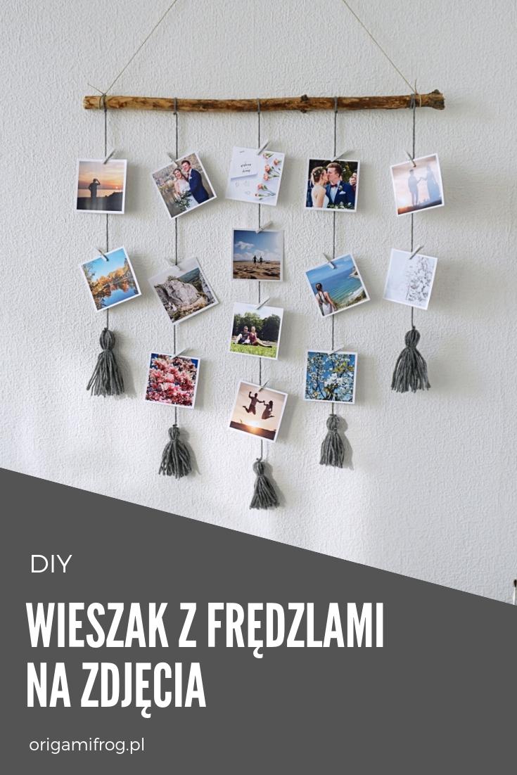 DIY Wieszak z frędzlami na zdjęcia