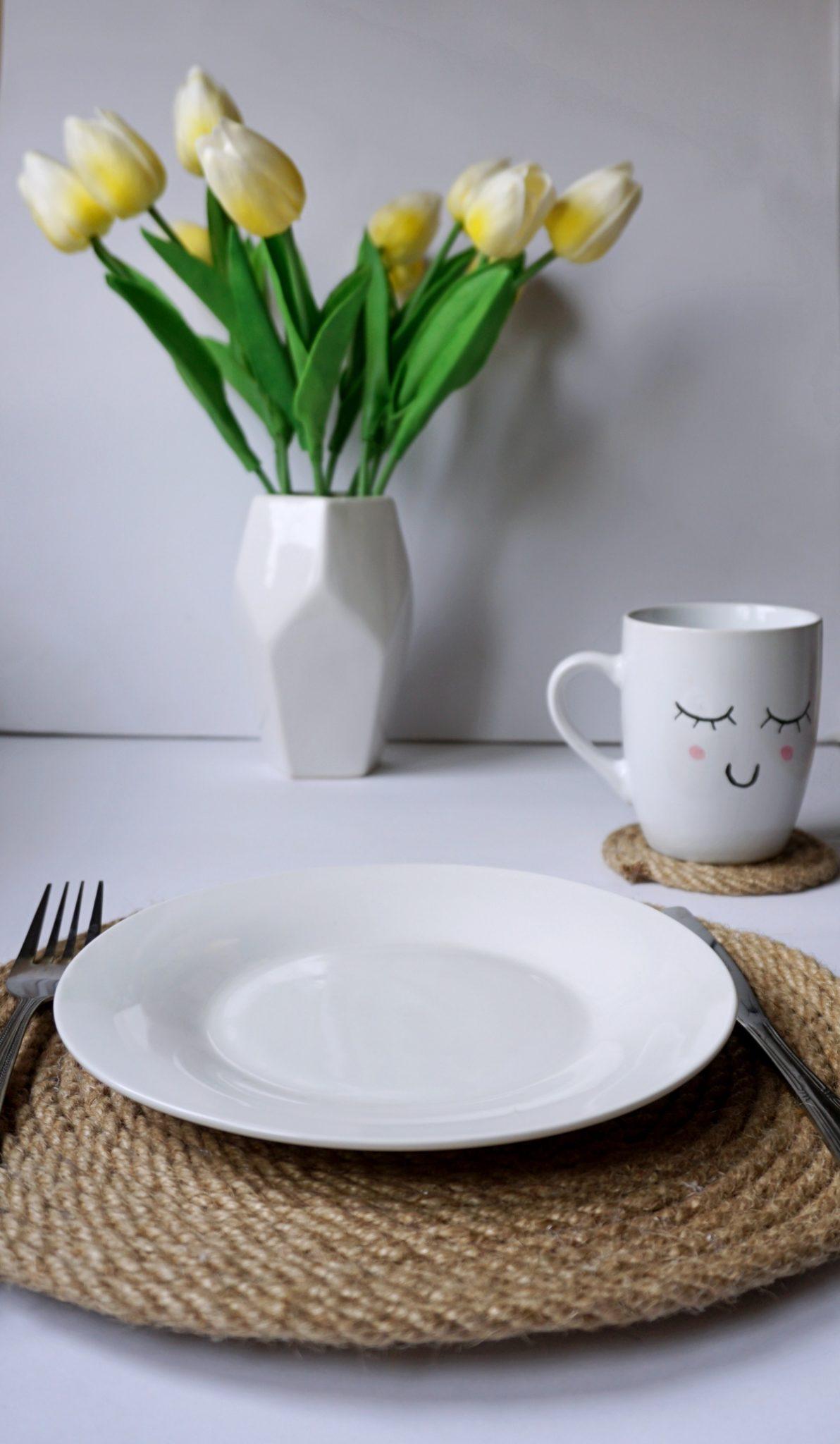 DIY Podkładki pod talerze z liny jutowej
