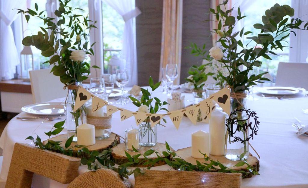 DIY Dekoracje weselne rustykalne