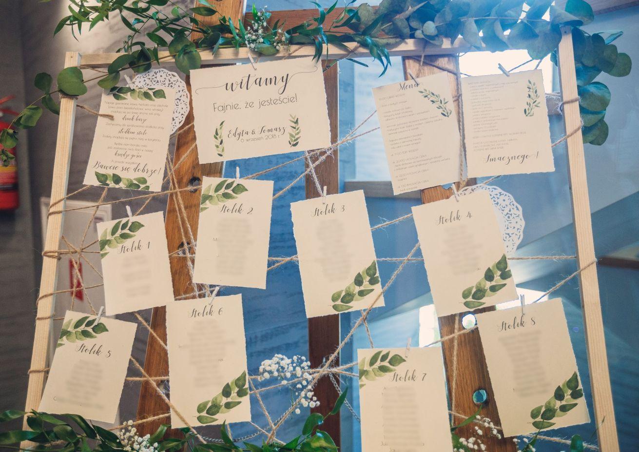 DIY Papeteria ślubna wykonana własnoręcznie - plan stołów